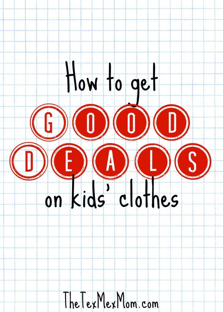 good deals on kids' clothes #gooddeals #savemoney #kidsclothes