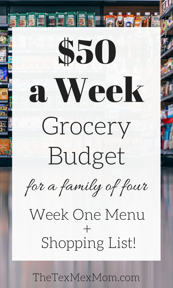 50 dollar weekly grocery budget #grocerybudget #cheapmeals #mealplanning