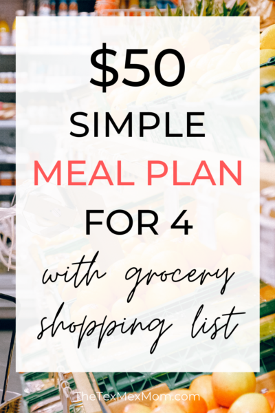 $50 weekly grocery budget
