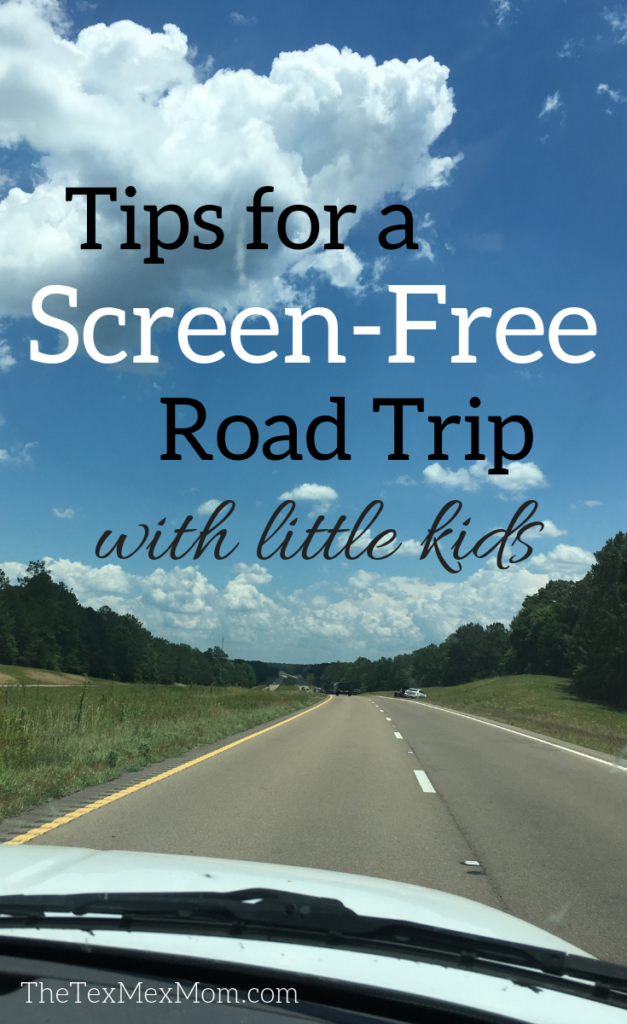 screen-free road trip with little kids