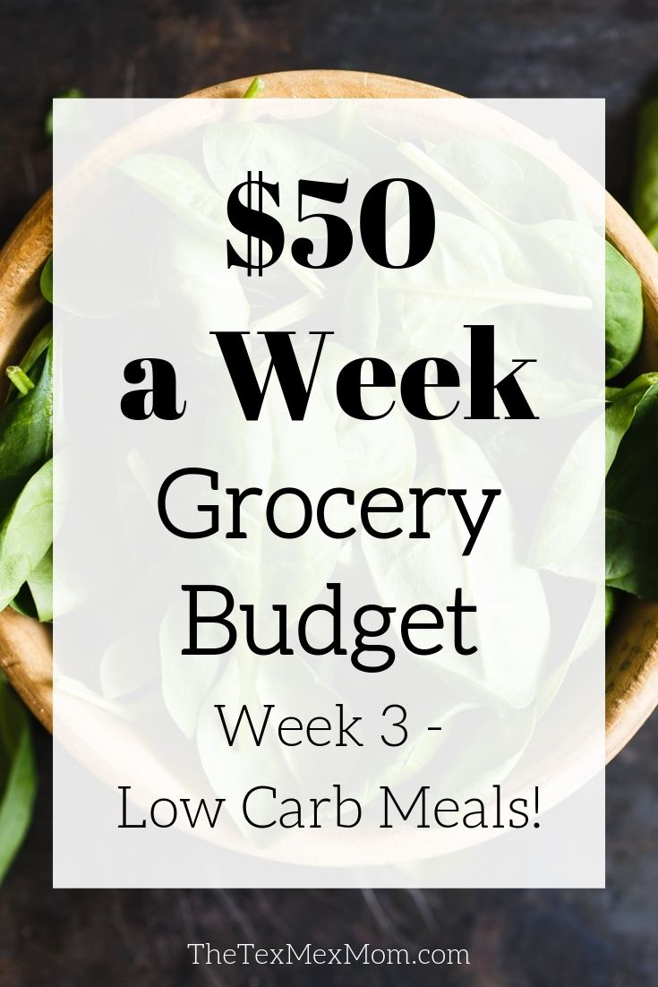 Low carb diet on a $50 weekly budget