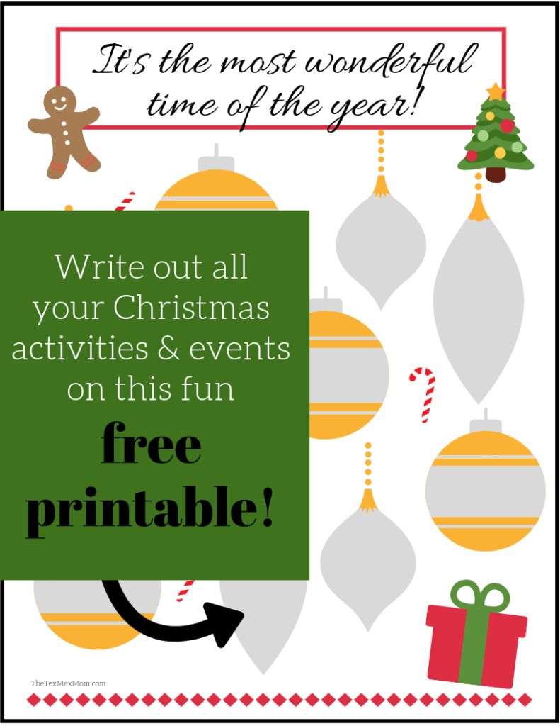 Celebrate Christmas with your kids all month long #christmasprintable