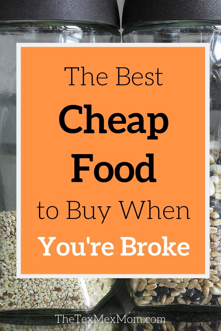 List of the best cheap food to buy when you're broke
