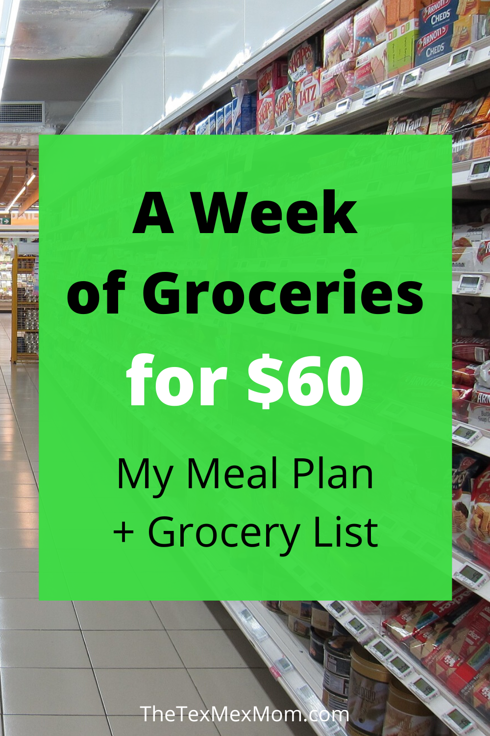$60 meal plan and grocery list