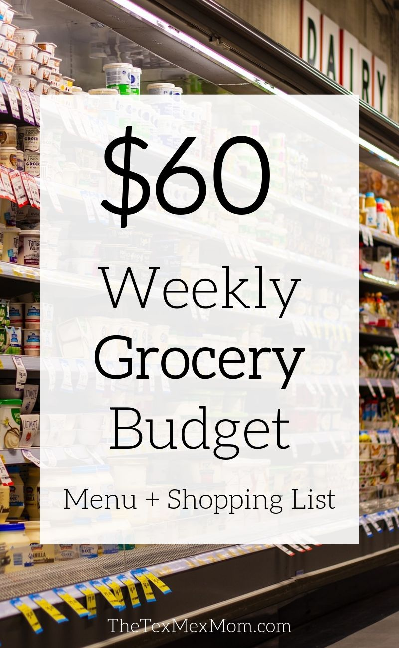 $60 a week grocery budget