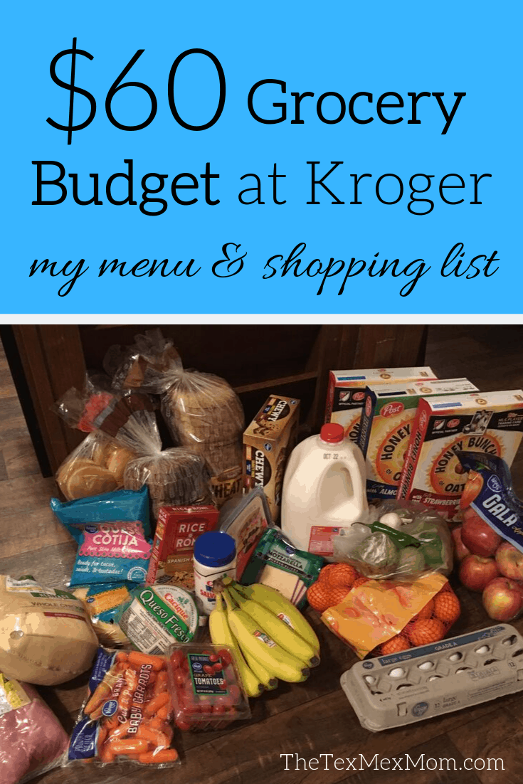 $60 Grocery Budget at Kroger