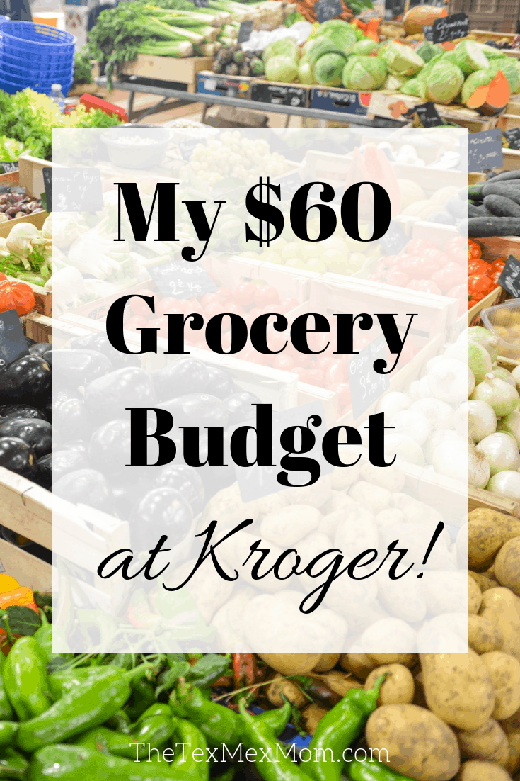 My $60 Grocery Budget at Kroger