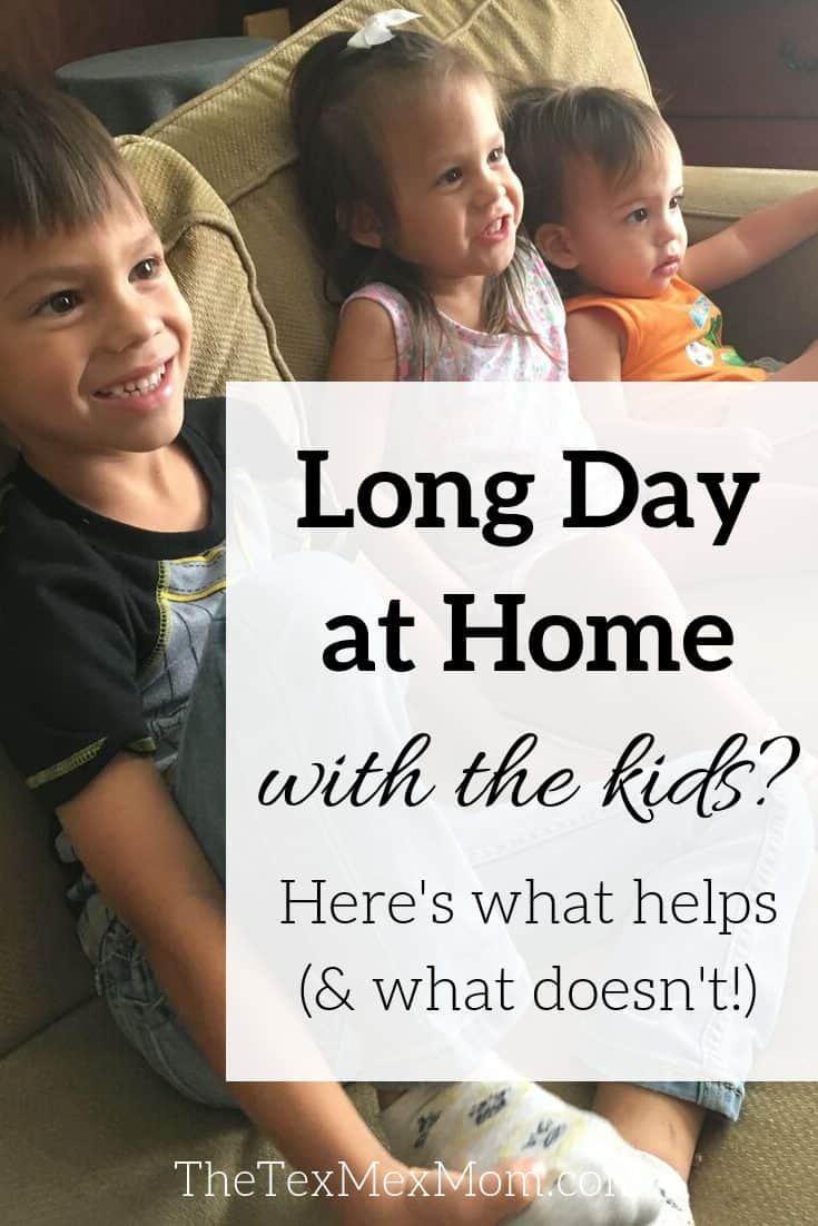 Long day at home with the kids? Here's what helps