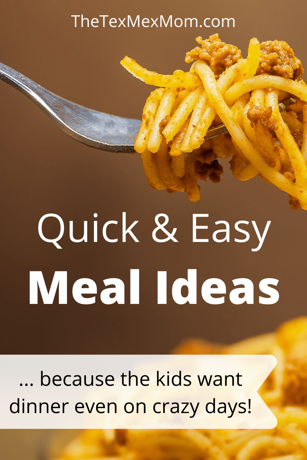 List of quick and easy meals