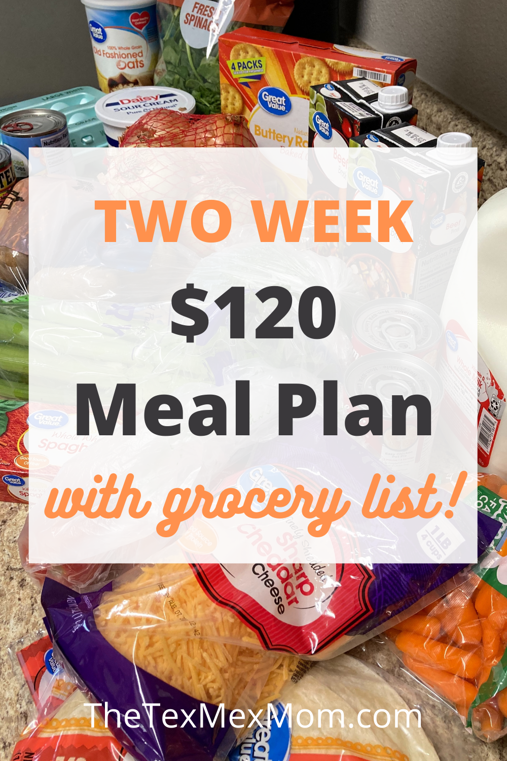 $120 Two Week Grocery Budget