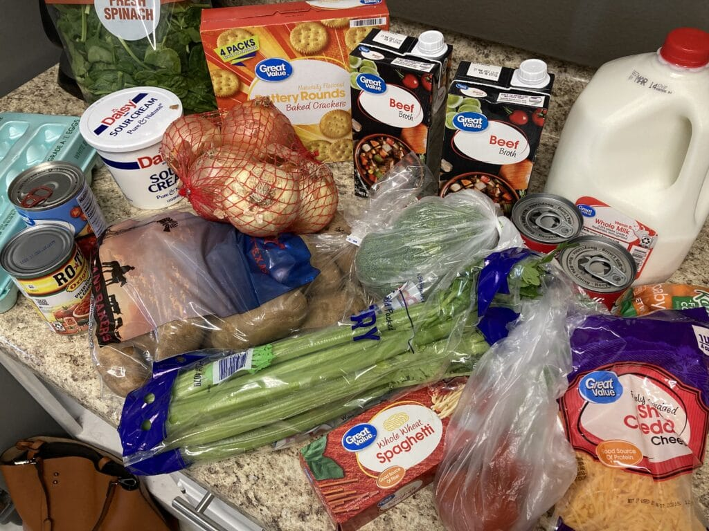 Some groceries for my $120 Two Week Grocery Budget