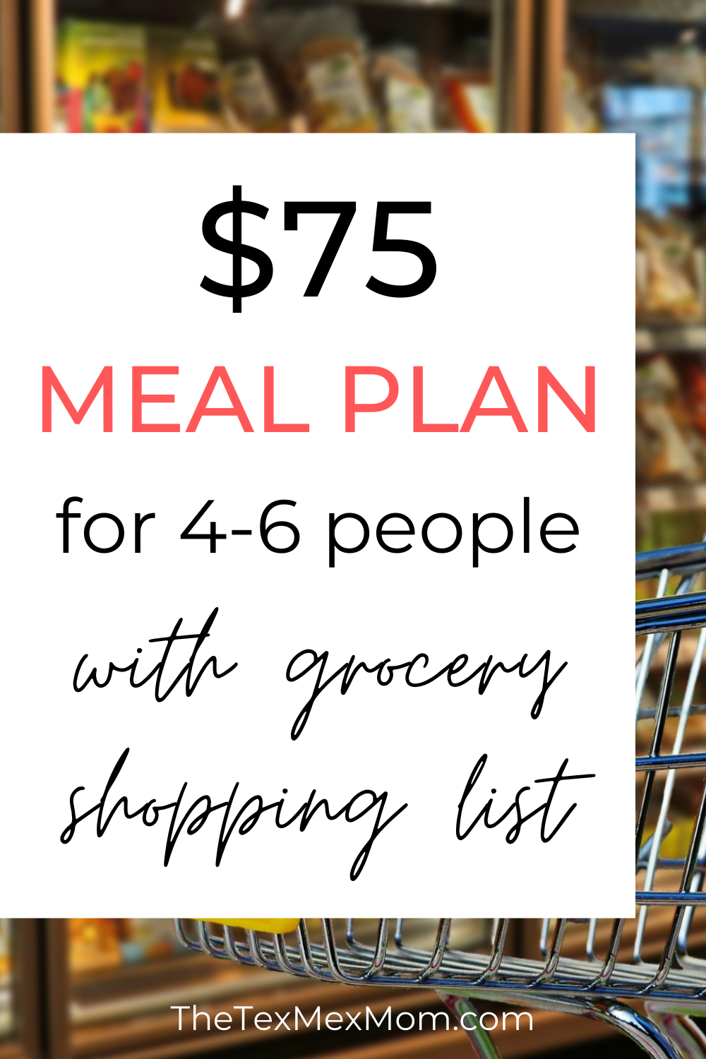 $75 weekly grocery budget meal plan